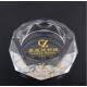 厂家直销水晶烟灰缸 八角水晶玻璃烟缸 高档礼品摆件 可定制刻字LOGO