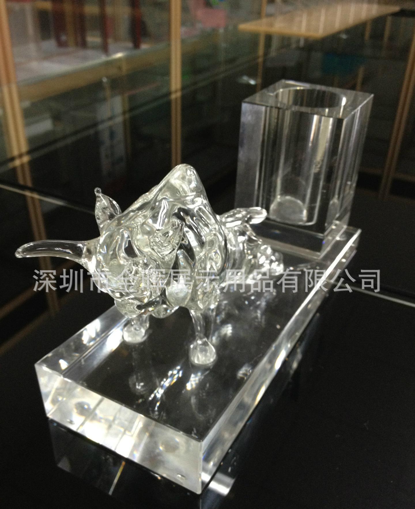 亚克力  有机玻璃笔筒  水晶笔筒 摆件 高档水晶纪念庆典礼品